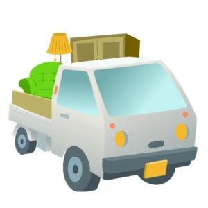 家具家電を積んだ軽トラック