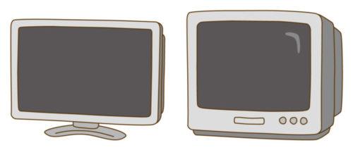 ブラウン管テレビと液晶テレビ
